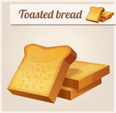 Toasted bread. Detailed Vector Icon Royalty Free Stock Photo