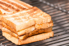Toasted bread. Food for morning Stock Image