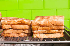 Toasted bread. Food for morning Stock Photography