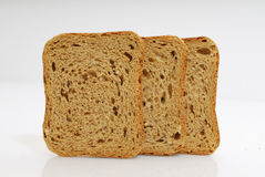 Toasted Bread isolated on white background Royalty Free Stock Photography