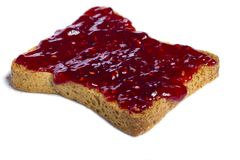 Toasted bread with jam Stock Image