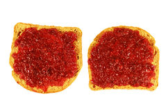 Toasted bread with jam Royalty Free Stock Photo