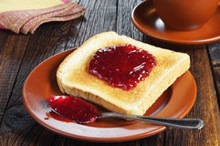 Toasted bread with jam Royalty Free Stock Image