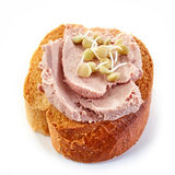 Toasted bread with meat pate Stock Photography