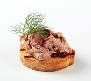 Toasted bread and pate Stock Photos