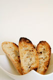 Toasted bread slices Royalty Free Stock Images