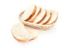 A toasted bread slices for breakfast isolated Stock Image
