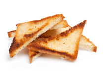 Toasted bread slices Stock Images