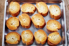 Toasted bread slices Royalty Free Stock Photo