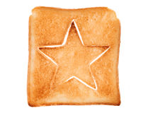 Toasted bread with star shape Royalty Free Stock Photo