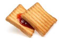 Toasted bread and Strawberry jam Stock Image