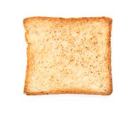 Toasted bread on white background. Top view Stock Images