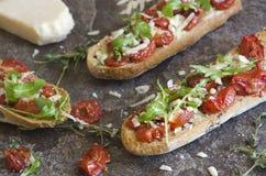 Toasted bruschetta Stock Photos