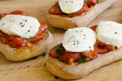 Toasted bruschettas Royalty Free Stock Images