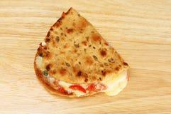 Toasted cheese flatbread Stock Photos