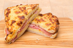 Toasted cheese and ham sandwich - panini Stock Images