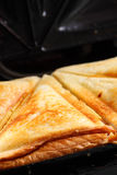 Toasted cheese sandwich grill Royalty Free Stock Photo