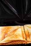 Toasted cheese sandwich grill Royalty Free Stock Image