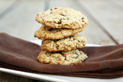 Toasted Coconut Chocolate Chip Cookies stock photo