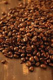 Toasted coffe beans texture Stock Images