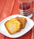 Toasted corn muffin Royalty Free Stock Photos
