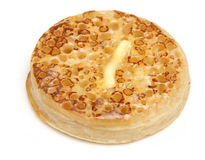 Toasted Crumpet with Butter Stock Photography