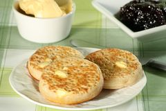 Toasted crumpets Royalty Free Stock Photography