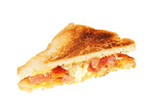 Toasted egg and bacon sandwich Royalty Free Stock Photos