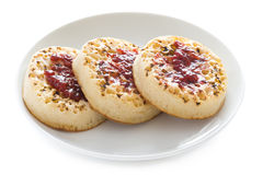 Toasted english crumpets Stock Photos