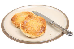 Toasted English Muffin Royalty Free Stock Images