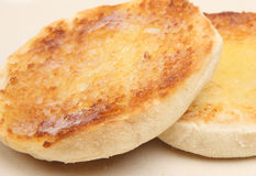 Toasted English Muffin Stock Photography