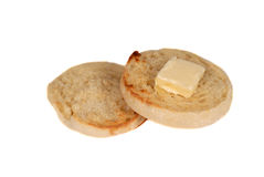 Toasted english muffin Stock Photos