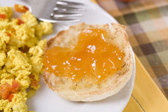 Toasted English Muffin Royalty Free Stock Photos
