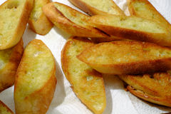 Toasted Garlic Bread Stock Photography