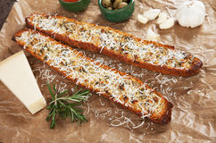 Toasted garlic bread with parmesan cheese Royalty Free Stock Image