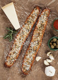 Toasted garlic bread with parmesan cheese Royalty Free Stock Images