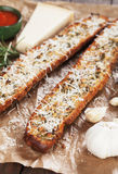 Toasted garlic bread with parmesan cheese Royalty Free Stock Photography