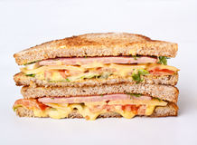 Toasted ham and cheese sandwich Royalty Free Stock Image