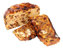 Toasted Irish Barmbrack Sweet Bread Slices With Butter Royalty Free Stock Photography