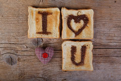 Toasted Love Message Stock Photography