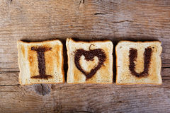 Toasted Love Message Stock Images