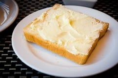 Toasted and margarine Royalty Free Stock Photo