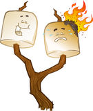 Toasted Marshmallow Characters Stock Image