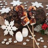 Toasted Marshmallows at Christmas Stock Photos