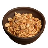 Toasted nuts dish Royalty Free Stock Image