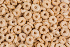 Toasted O cereal background Royalty Free Stock Photography