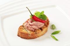 toasted pate хлеба Стоковые Изображения