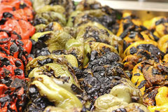 Toasted peppers Royalty Free Stock Photo
