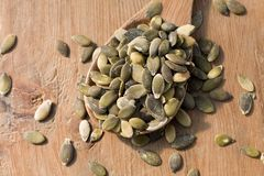 Toasted pumpkin seeds Royalty Free Stock Photos