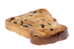 Toasted Raisin Bread Slice Isolated Royalty Free Stock Image